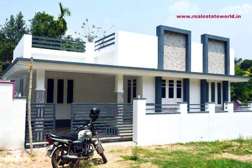 Loading zoom  kerala real estate Varapuzha real estate 3 BHK House for sale  in. Kerala Model Compound Wall